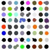 Set of color blots — Stock Vector
