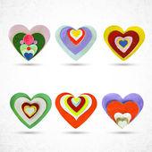 векторные сердца комплект — Cтоковый вектор