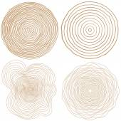 Set of tree rings — Stock Vector
