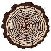Cortar el tronco de árbol — Vector de stock