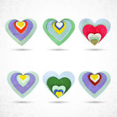 Valentine hearts symbols — Vector de stock