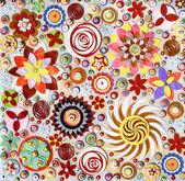 Okrągłe elementy kwiatowy — Zdjęcie stockowe