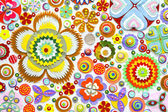 Colorful paper flowers — Stock Photo