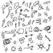 Set arrows symbols — Stock Vector