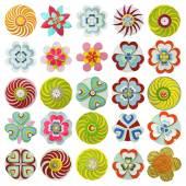 Mooie kleurrijke bloemen — Stockvector
