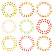 Beautiful floral wreathes — Stock Vector