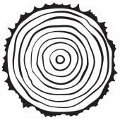 Ствол дерева сокращения — Cтоковый вектор