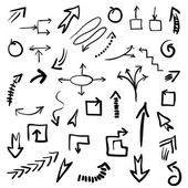 Set arrows symbols — Stock vektor