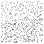 Doodle sketch arrows — Stock Vector #76023393