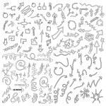 Doodle sketch arrows — Stock Vector #76023395