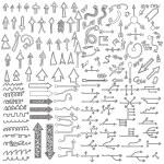 Doodle sketch arrows — Stock Vector #76023403