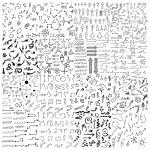 Doodle sketch arrows — Stock Vector #76023411