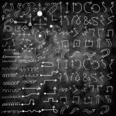Vector hand drawn arrows icons — Stock Vector