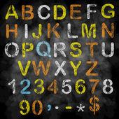 Watercolor artistic font. — Stock Vector