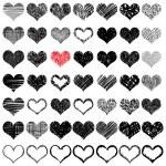 Hand drawn hearts set — Stock Vector #81419952