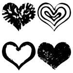 Hand drawn hearts set — Stock Vector #81420858