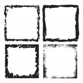Square in Grungy Style for your Design . — Stock Vector