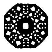 Handmade, paper cut with scissors  snowflake — Stock Vector