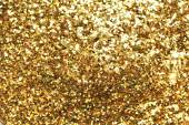 Holiday yellow glitter, — Stock Photo