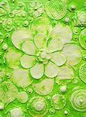 Summer green hawaiian floral pattern — Stock Photo