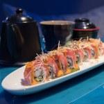 Fusion sushi row — Stock Photo #71209833
