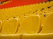 Grandstand arena at the football stadium — Stock Photo