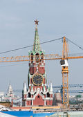 Repair in the Kremlin. restructuring. Spasskaya Frolov Tower. Russia, Moscow, Red Square — Stock Photo