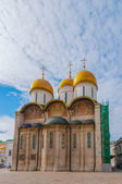 Russia. Moscow. Assumption Cathedral of Kremlin Orthodox Church, Patriarchal Catedral. — Foto de Stock