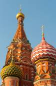 Moscow. Red Square. Saint Basils Cathedral. The Cathedral of Protection Most Holy Theotokos on the Moat — Stock Photo