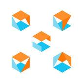 Set of geometric shapes — Stock Vector