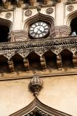 Closeup view of clock in charminar, Hyderabad, Andhrapradesh — Stock Photo