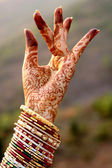 Beautiful hands of an India Bride — Stock Photo