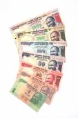 Indian currency notes on white — Stock Photo