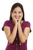 Young happy Indian woman — Stock Photo