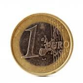 One euro coin on white background  — Stock Photo