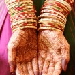 Indian woman hands with henna — Stock Photo #61350031