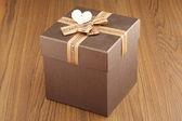 Closeup of a gift box — Stock Photo