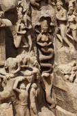 Arjuna's Penance - Mamallapuram, India — Stock Photo