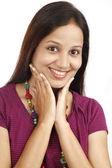 Portrait of beautiful young Indian woman — Stock Photo