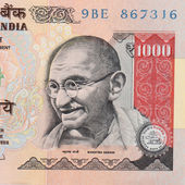 One thousand rupee indian note — Stockfoto