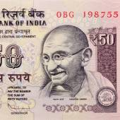Indian fifty rupee note — Stock Photo