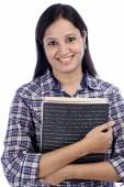 Young Indian female student with books  — Stock Photo
