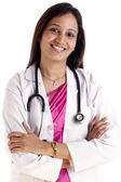 Happy Indian female doctor — Stock Photo