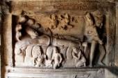 Bas-relief sculpture in Mammallapuram — Stock Photo
