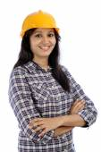 Portrait of female architect — Stock Photo