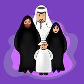 Arabian Family — Stock Vector