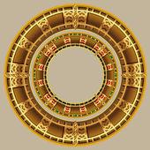 Ancient Dacian Romanian Jewellery Decoration — Vecteur