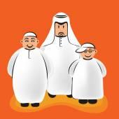 Arab Funny Characters — Stock Vector