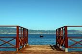 Floating dock — Stock Photo