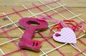 Klíč k srdce — Stock fotografie